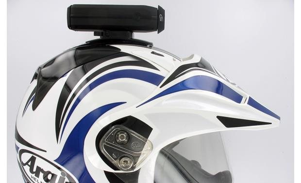 Drift® Innovation HD170 Stealth Camera Shown attached to top of helmet