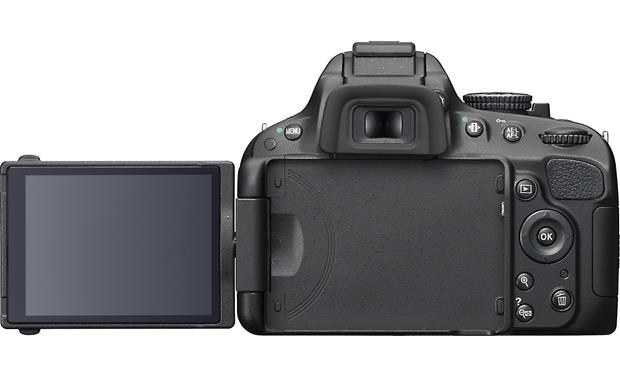 Nikon D5100 (no lens included) Back (with LCD screen fully extended)