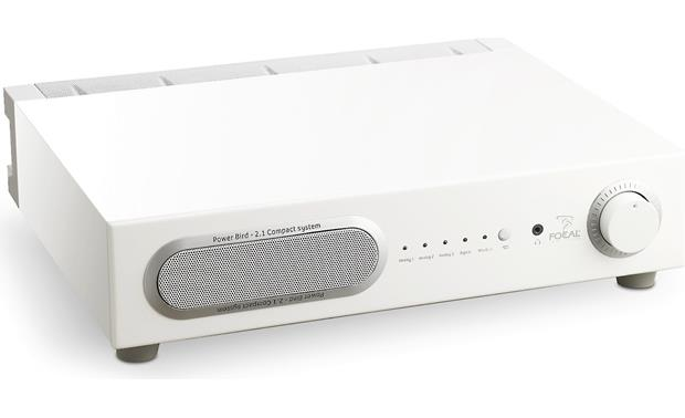 Focal Bird Pack 2.1 Power Bird subwoofer/amplifier in white (Front view)