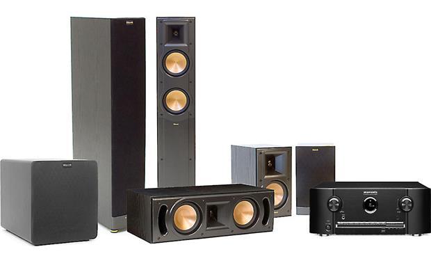 Marantz/Klipsch® Home Theater Bundle Marantz receiver with Klipsch