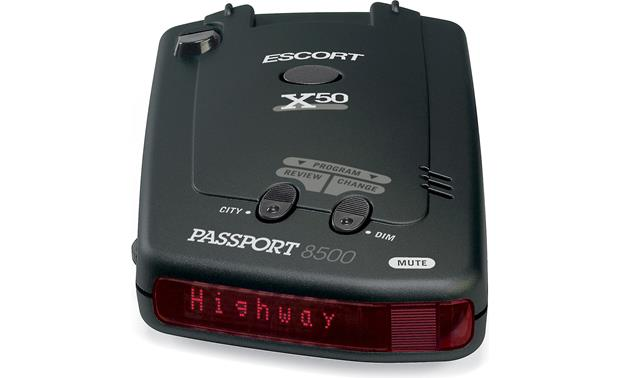 Escort Passport 8500 X50 Red display