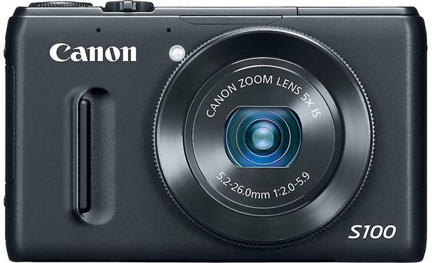 Canon PowerShot S100 Facing forward - Black
