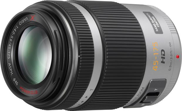 Panasonic H-PS45175K 45-175mm f/4.0-5.6 Power Lens Front (silver)