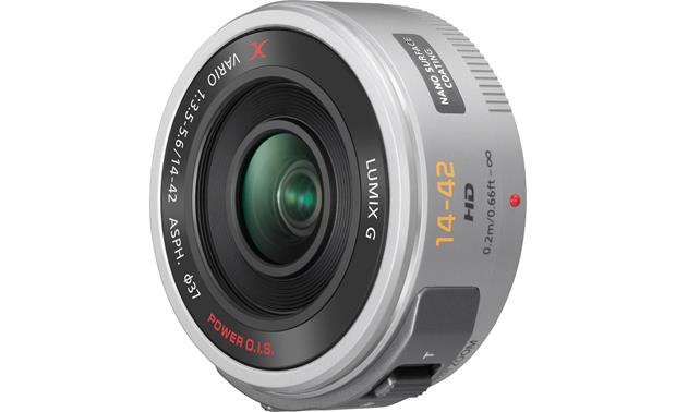 Panasonic H-PS14042K f/3.5-5.6 14-42mm Power Lens Front (silver)