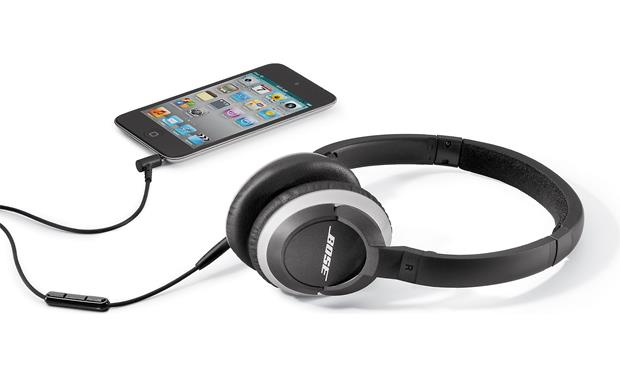 Bose® OE2i audio headphones Shown in black with iPod® (not included)