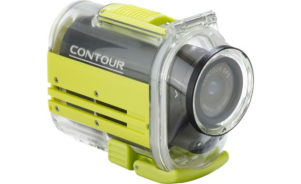 Contour GPS Waterproof Case Front view with camera inside (not included)
