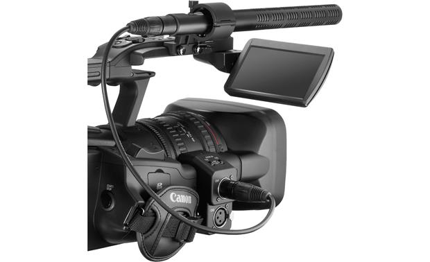Canon XF305 High Definition Camcorder with optional shotgun microphone mounted (not included)