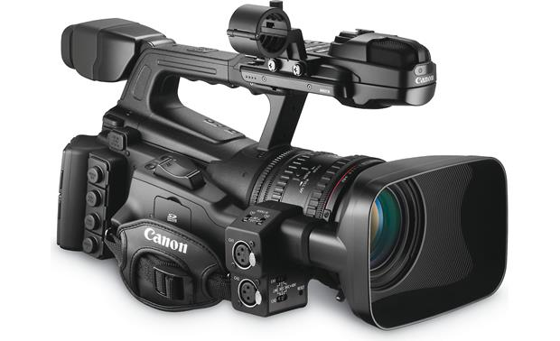 Canon XF305 High Definition Camcorder Front, 3/4 view of right side