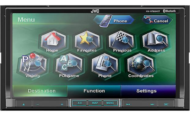 JVC KW-NT800HDT (Refurbished) Find your favorite functions easily
