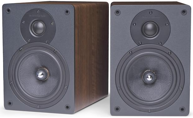 Cambridge Audio S30 Dark Oak (shown with grilles off)