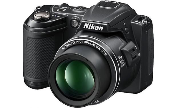 nikon coolpix l120 black 14 1 megapixel digital camera with 21x rh crutchfield com Nikon Coolpix Shutter Speed Nikon Coolpix Shutter Speed