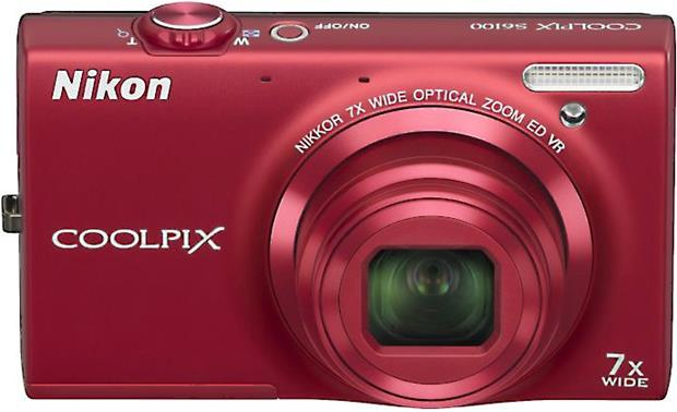 Nikon Coolpix S6100 Front - Red
