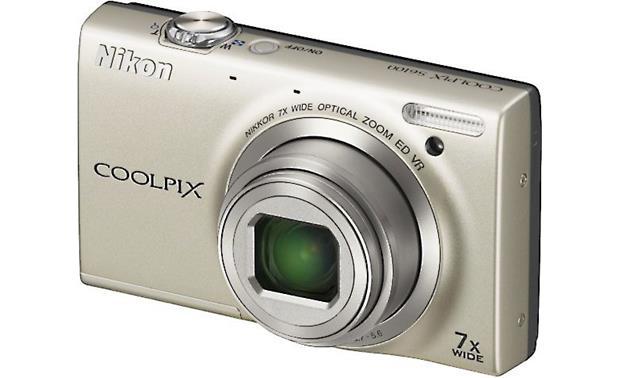 nikon coolpix s6100 silver 16 megapixel digital camera with 7x rh crutchfield com Nikon Coolpix S6000 Nikon Coolpix S6100 LCD-Display