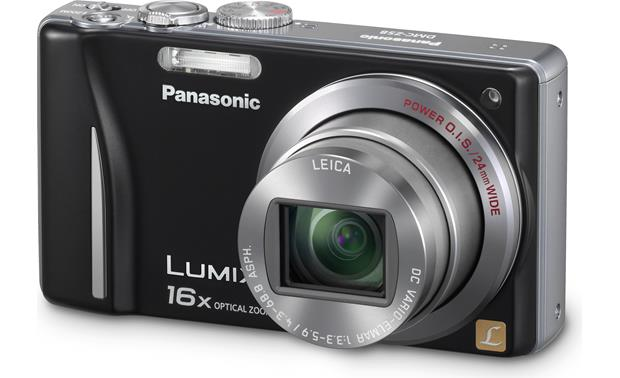 panasonic lumix dmc zs8 black 14 1 megapixel digital camera with rh crutchfield com