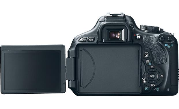 Canon EOS Rebel T3i Kit Back (with Vari-angle screen extended)