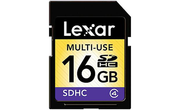 Lexar SDHC Memory Card Front