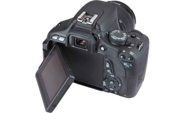 Canon EOS Rebel T3i Kit Back (with Vari-angle screen folded partially out)