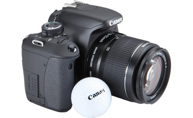 Canon EOS Rebel T3i Kit Shown with golf ball (for scale)