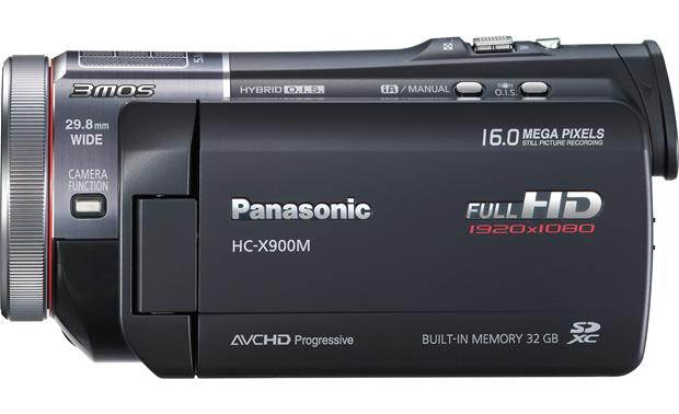 Panasonic HC-X900M Left side view