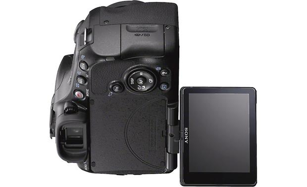 Sony Alpha SLT-A57 Kit Articulated LCD display rotates 180 degrees vertically