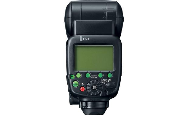 Canon Speedlite 600EX-RT Back, with nothing on LCD display