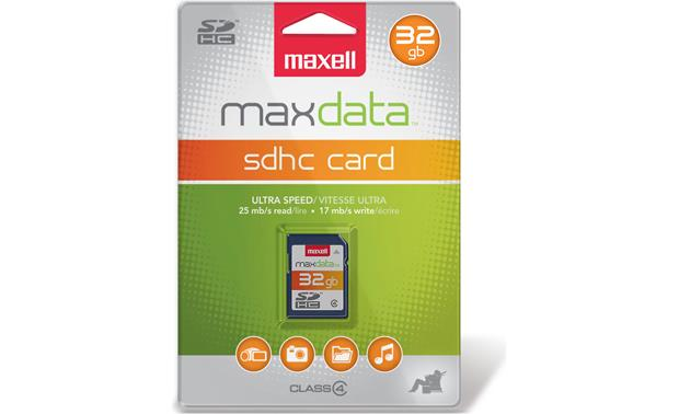 Maxell SDHC Memory Card Front