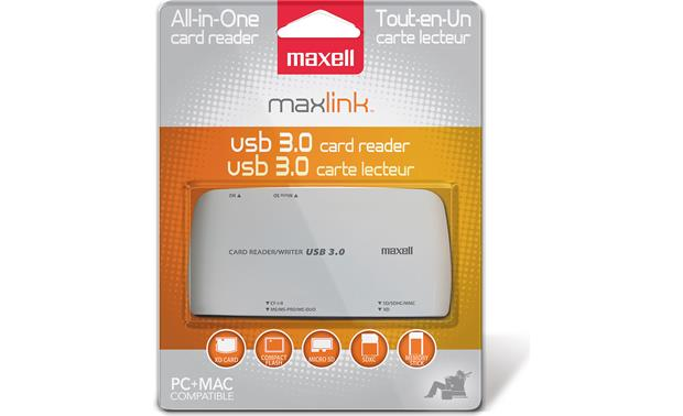Maxell Maxlink Memory Card Reader/Writer Front
