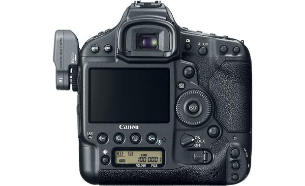 Canon EOS 1D X (no lens included) Back, with optional WFT-E6A wireless transmitter (not included)