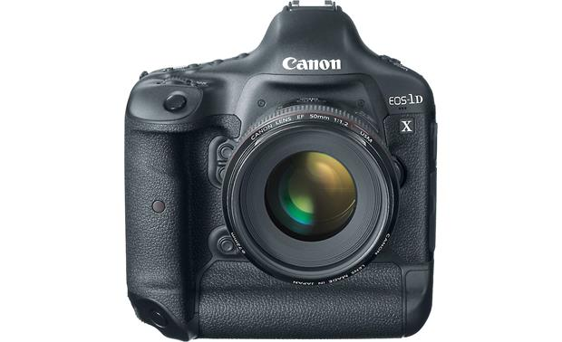 Canon EOS 1D X (no lens included) Front, straight-on, with EF 50mm f/1.2 L-Series lens (not included)