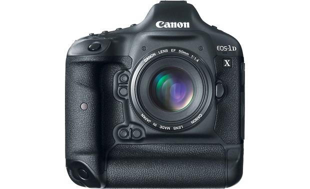Canon EOS 1D X (no lens included) Front, straight-on, with EF 50mm f/1.4 lens (not included)