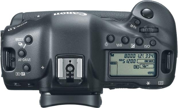 Canon EOS 1D X (no lens included) Top view