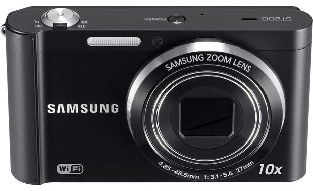 Samsung ST200F Front, higher angle (Black)