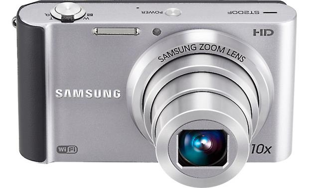 Samsung ST200F Front, higher angle (Silver)