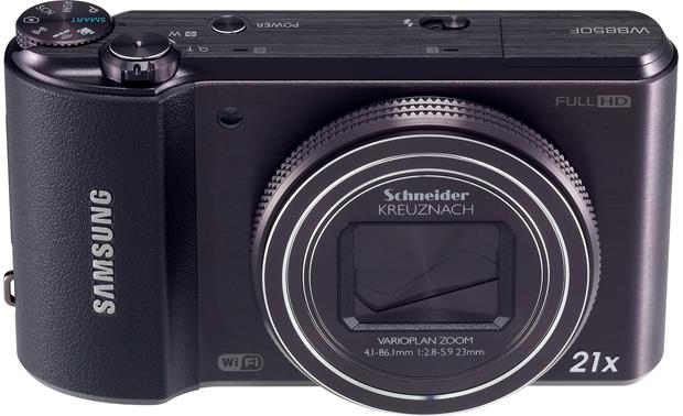 Samsung WB850F Front, higher angle
