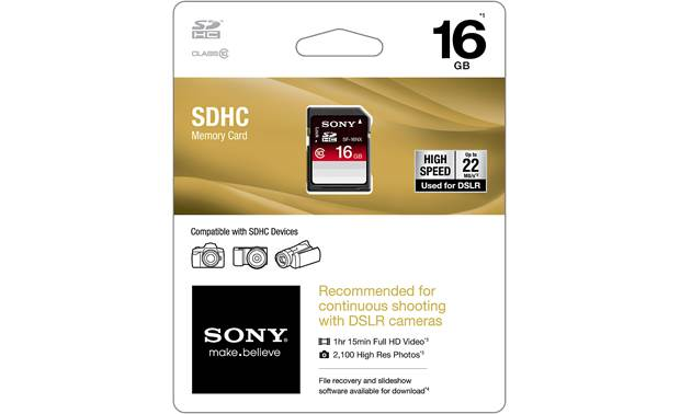 Sony SDHC Memory Card Shown in packaging