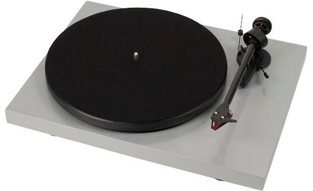 Pro-Ject Debut Carbon Gloss Silver (shown with dust cover removed)