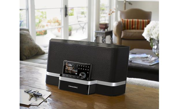 SiriusXM Portable Speaker Dock Blends in with any decor.