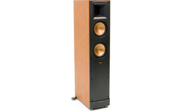 Klipsch RF-62 II home theater speaker system RF-62 II tower (angled view with grille removed)