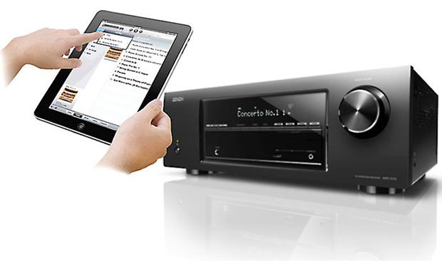 Denon AVR-1713 Denon's free control app for iPad (not included)