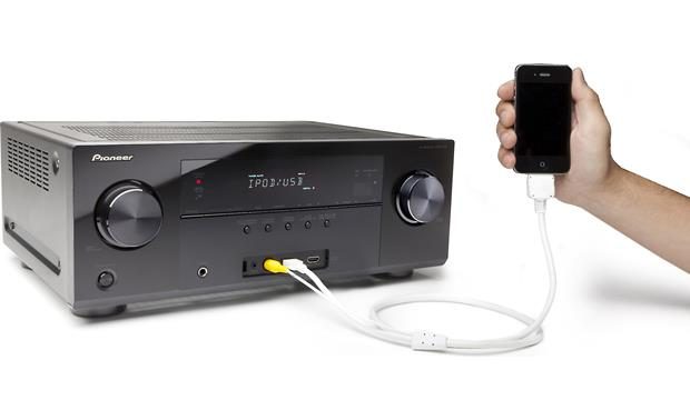 Pioneer VSX-1122-K Connects to iPod® (not included)