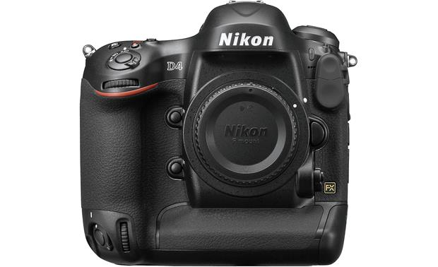 Nikon D4 (no lens included) Front, straight-on