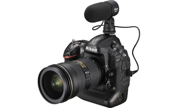 Nikon D4 (no lens included) Shown with external microphone and zoom lens (not included)