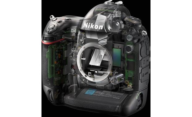 Nikon D4 (no lens included) Semi-transparent view