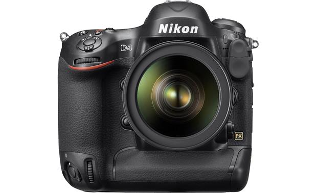 Nikon D4 (no lens included) Front, straight-on, with lens (not included)