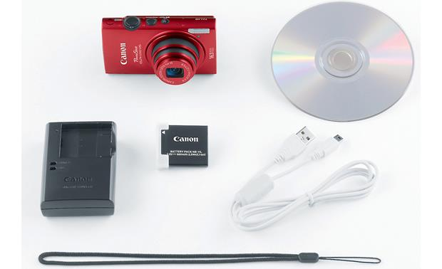 Canon PowerShot Elph 110 HS What's in the box - Red