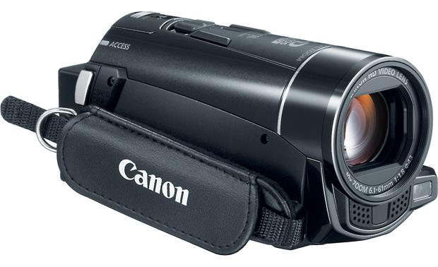 Canon VIXIA HF M50 Front, 3/4 view of right side