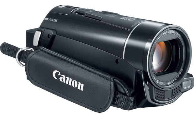 Canon VIXIA HF M500 Front, 3/4 view of right side