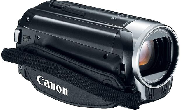 Canon VIXIA HF R32 Front, 3/4 view of right side