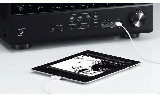 Yamaha RX-V773 Connects to iPad® (not included)