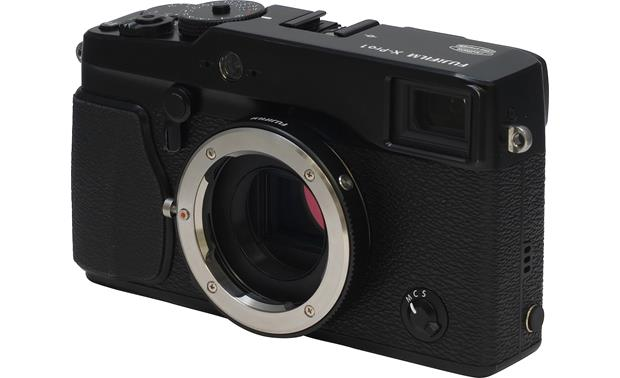 Fujifilm X-Pro1 M-Mount Adapter Shown mounted on th X-Pro1 camera (not included)